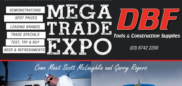 DBF Mega Tools Trade Show Wednesday 29 October 2014
